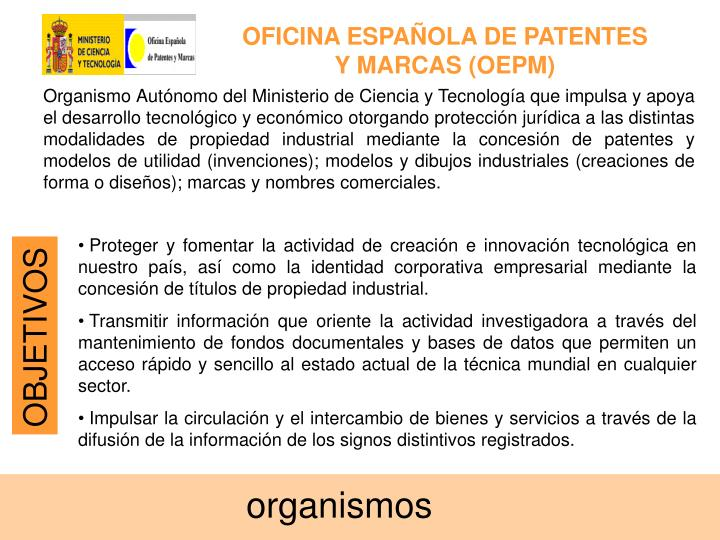 Ppt patentes powerpoint presentation id 909727 for Oficina de patentes y marca