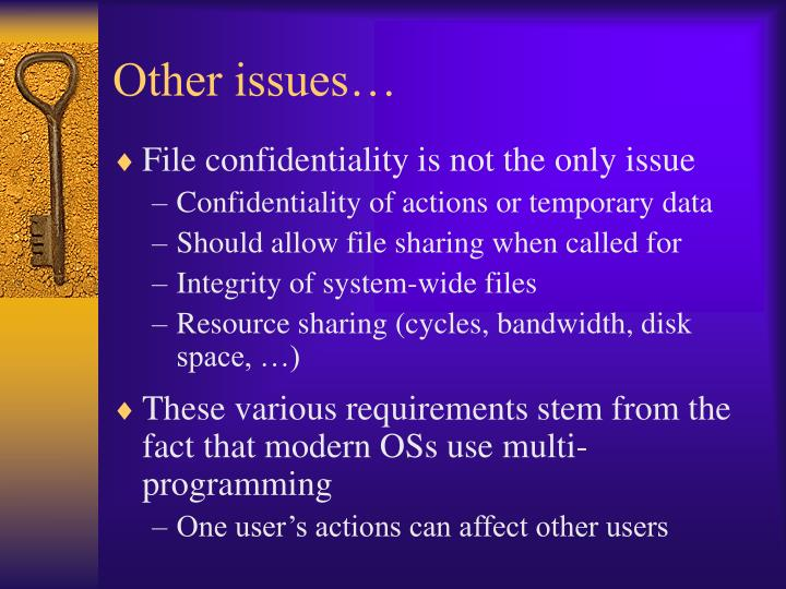 Other issues…