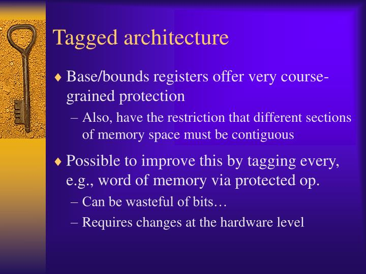 Tagged architecture