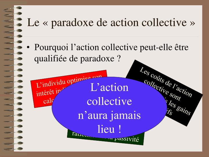Le « paradoxe de action collective »