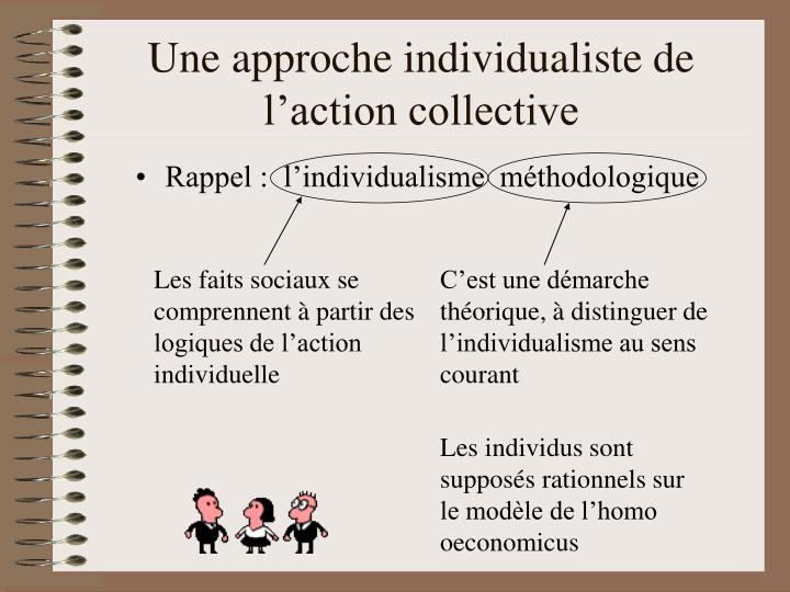 Une approche individualiste de l action collective