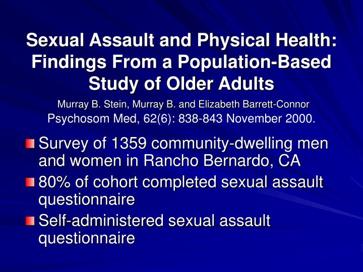 Sexual Assault and Physical Health: