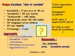 risque d acidose r el et variable