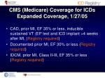 cms medicare coverage for icds expanded coverage 1 27 051
