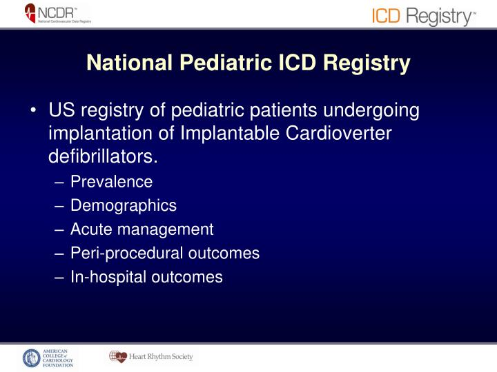 National Pediatric ICD Registry