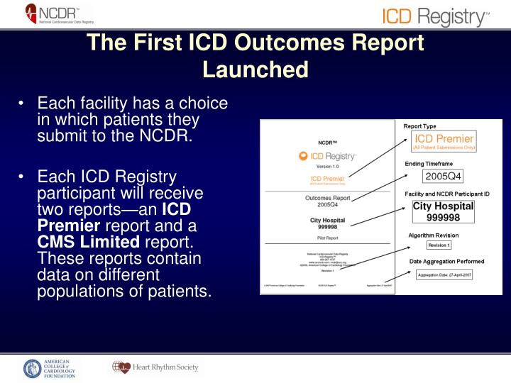 The First ICD Outcomes Report Launched
