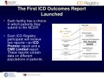 the first icd outcomes report launched1