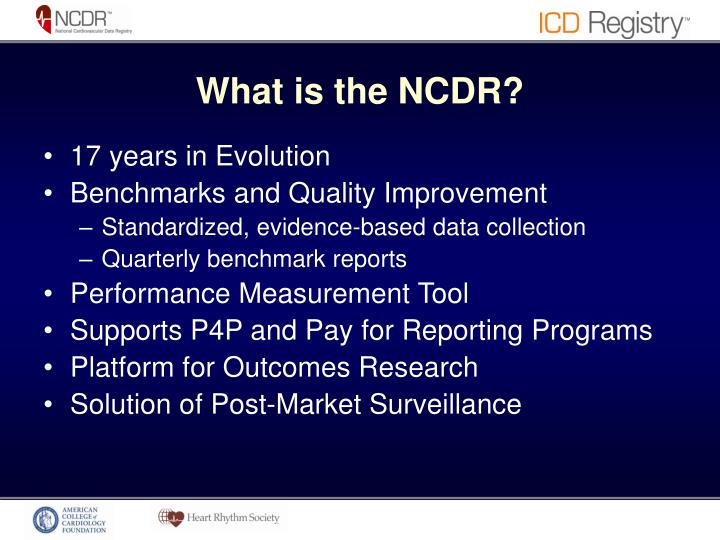 What is the NCDR?