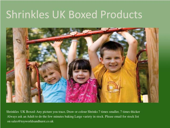 Shrinkles uk boxed products