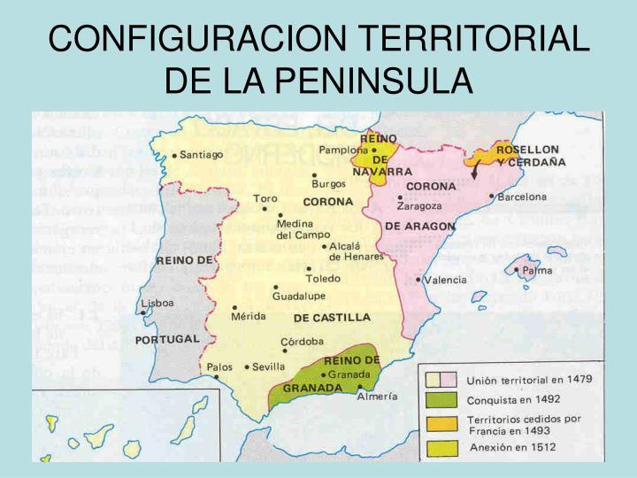 CONFIGURACION TERRITORIAL DE LA PENINSULA