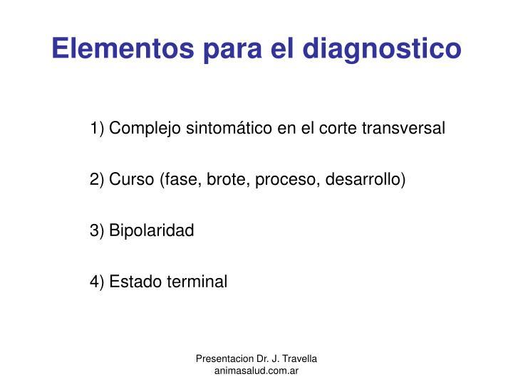 Elementos para el diagnostico