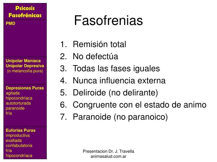 Fasofrenias