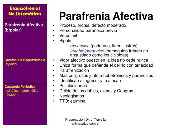 Parafrenia Afectiva
