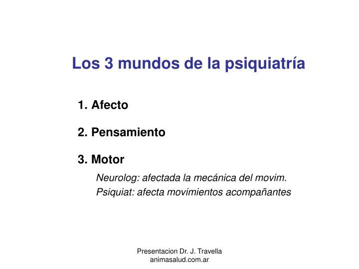 Los 3 mundos de la psiquiatría