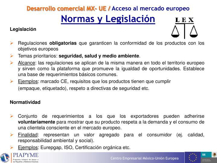 Desarrollo comercial MX- UE /