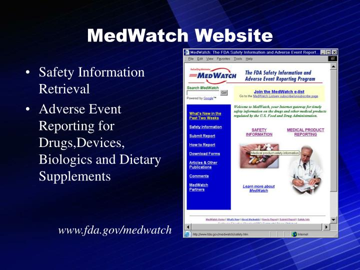 MedWatch Website
