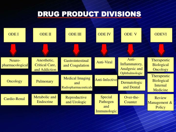 DRUG PRODUCT DIVISIONS