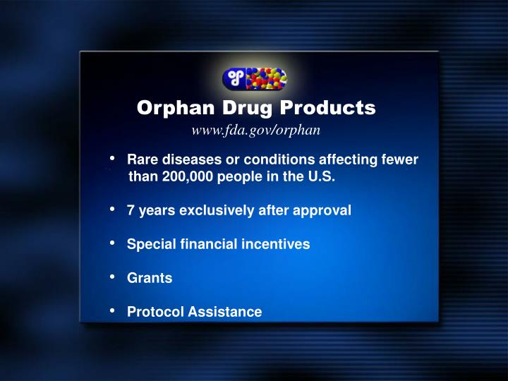 Orphan Drug Products