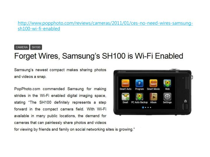 Http www popphoto com reviews cameras 2011 01 ces no need wires samsung sh100 wi fi enabled
