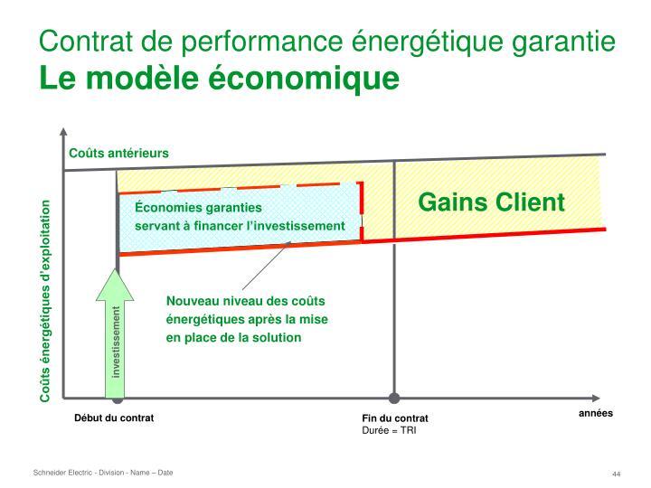 Contrat de performance énergétique garantie