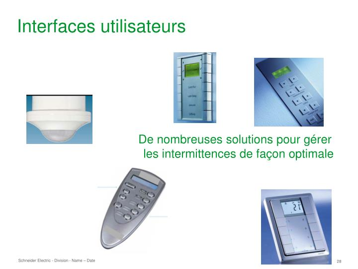 Interfaces utilisateurs