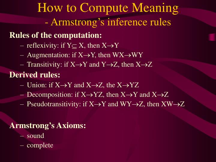 How to Compute Meaning