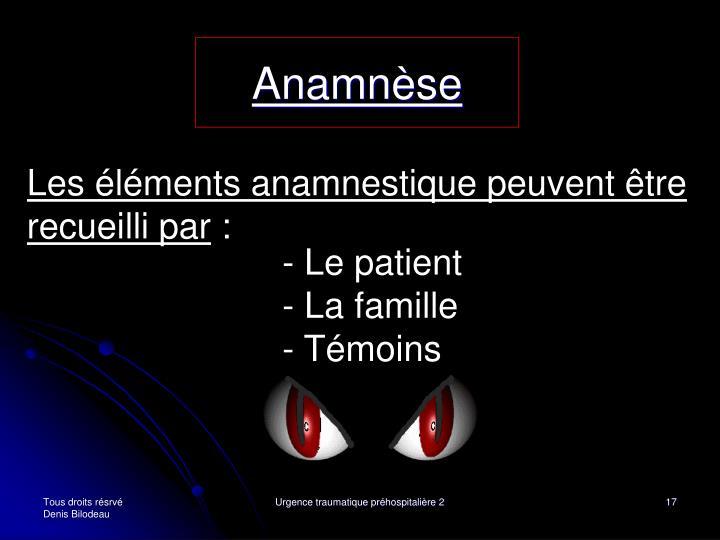 Anamnèse