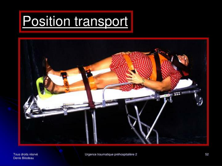 Position transport