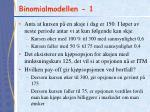 binomialmodellen 1