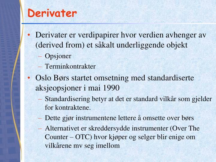 Derivater