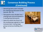 consensus building process continued1
