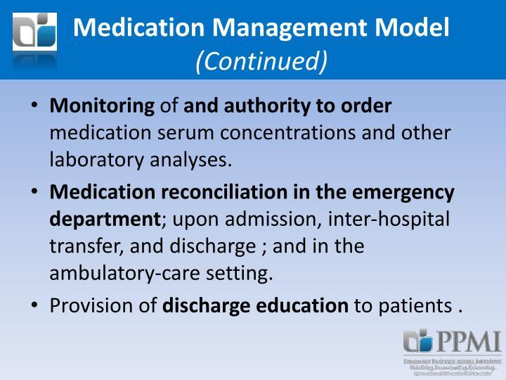 Medication Management Model