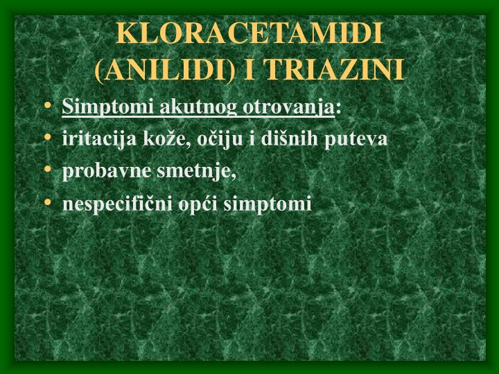 KLORACETAMIDI (ANILIDI)