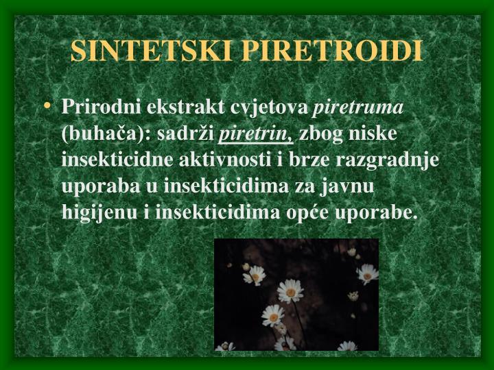 SINTETSKI PIRETROIDI