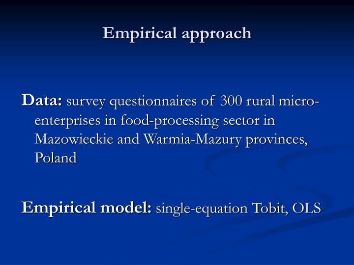 Empirical approach