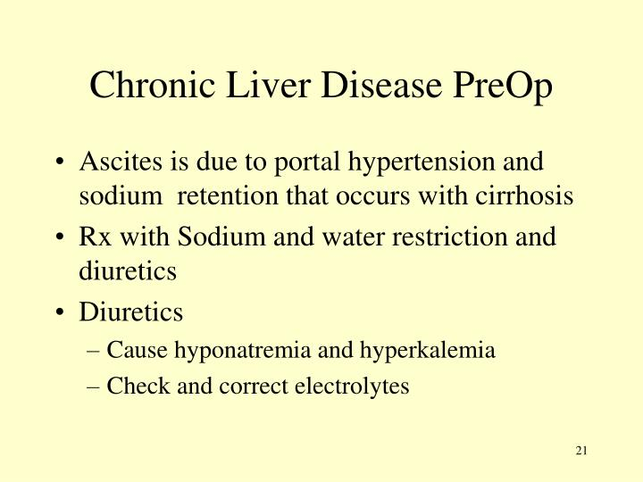 Chronic Liver Disease PreOp