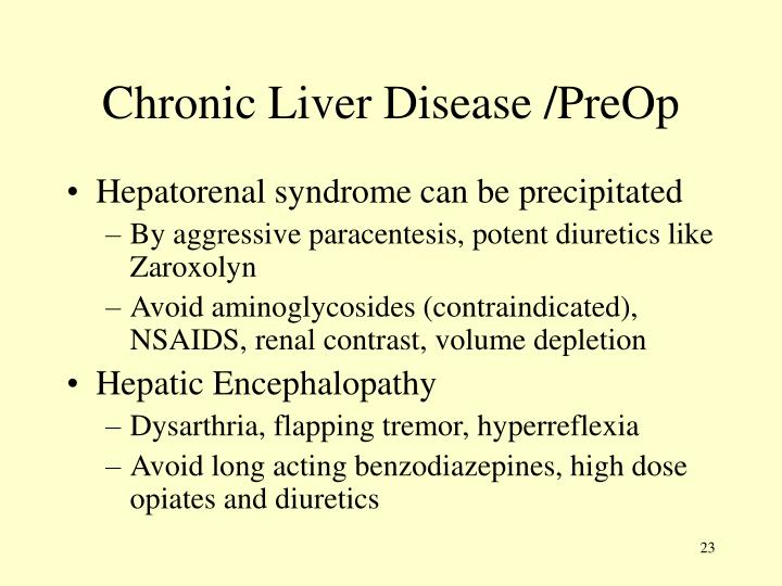 Chronic Liver Disease /PreOp