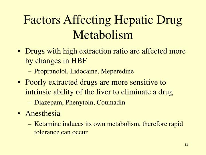 Factors Affecting Hepatic Drug Metabolism