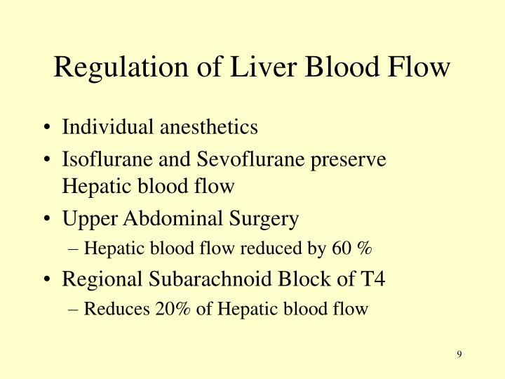 Regulation of Liver Blood Flow