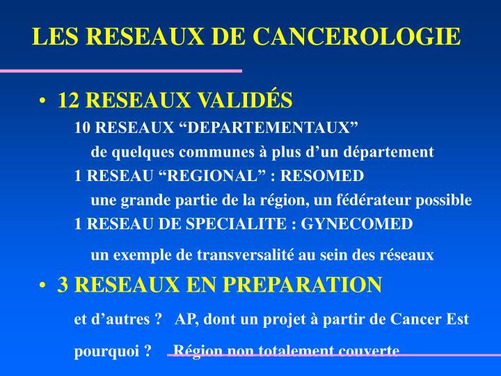 LES RESEAUX DE CANCEROLOGIE