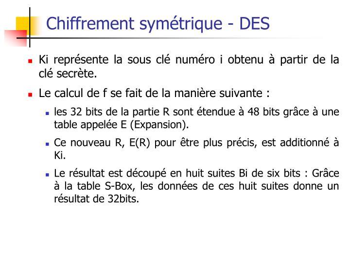 Chiffrement symétrique - DES
