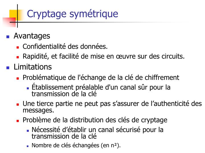 Cryptage symétrique