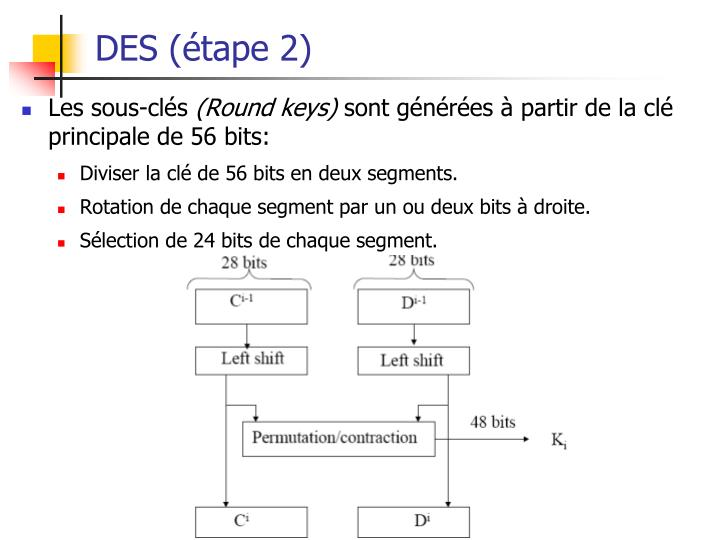 DES (étape 2)