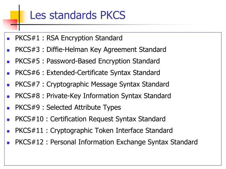 Les standards PKCS
