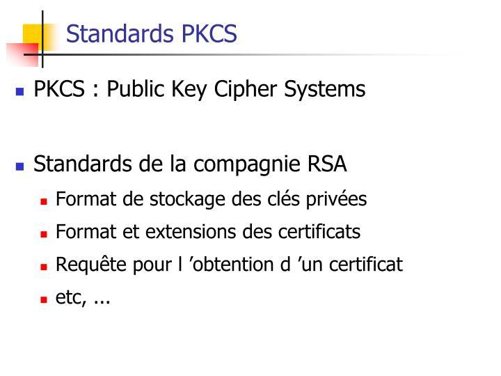 Standards PKCS