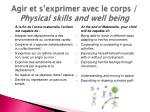 agir et s exprimer avec le corps physical skills and well being1