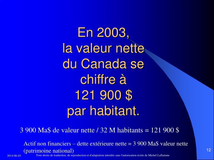 En 2003,