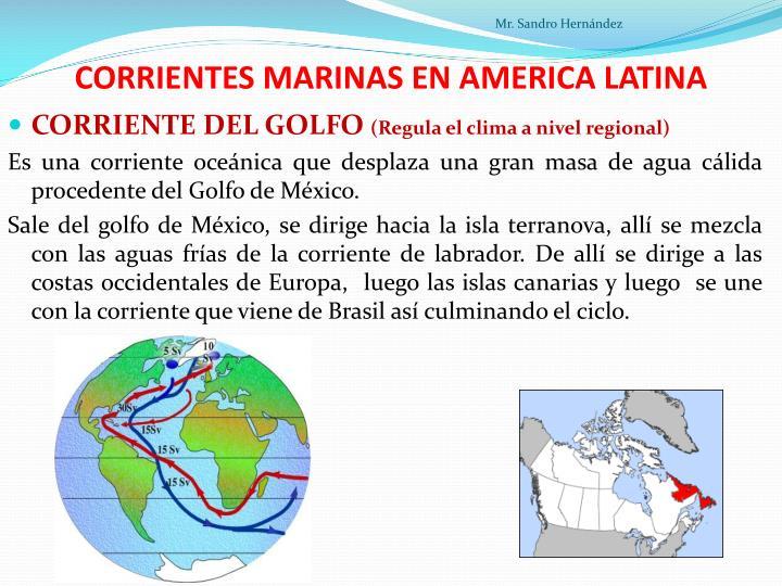 CORRIENTES MARINAS EN AMERICA LATINA