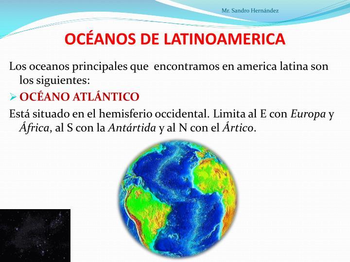OCÉANOS DE LATINOAMERICA