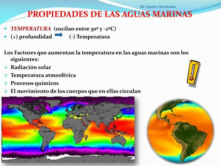 PROPIEDADES DE LAS AGUAS MARINAS